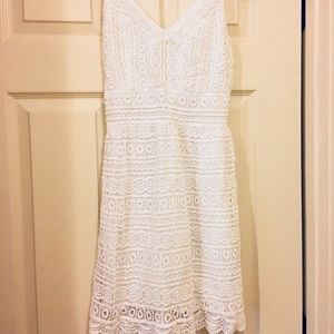 A&F lace dress midi